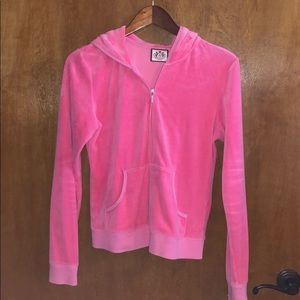 UC Pink Juicy Couture Zip Up with Hood Size XL